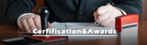 cerfification awards banner