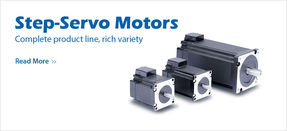 step servo motors white
