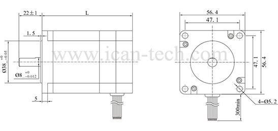 bl series bldc motor 57mm square