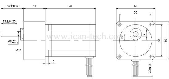 gear stepper motor nema23