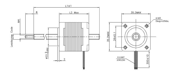 nema14 non-captive stepper motor