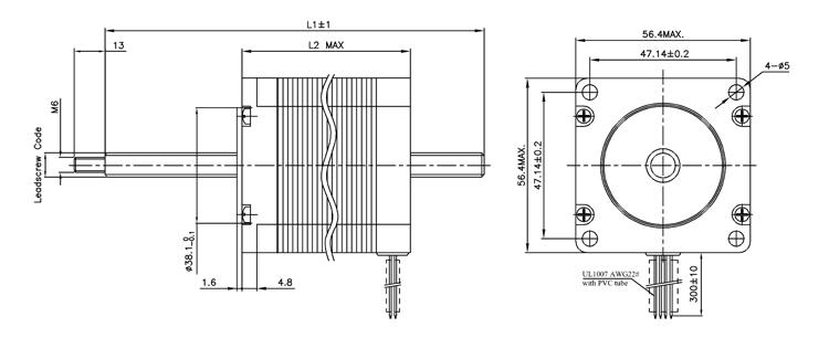 non-captive stepper motor nema23